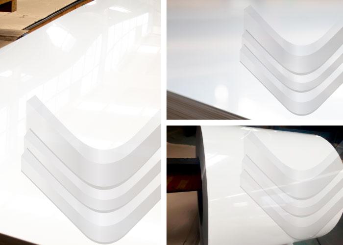 Lámina de aluminio blanco wash, Inoxidables Victoria