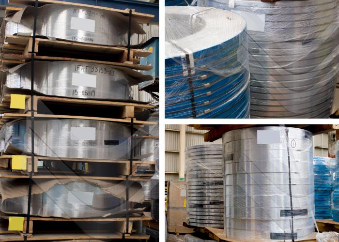 Fleje o cinta industrial de aluminio, Inoxidables Victoria