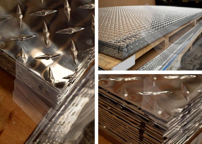 Lámina de aluminio antiderrapante, Inoxidables Victoria