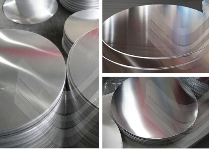 Discos redondos de aluminio, Inoxidables Victoria